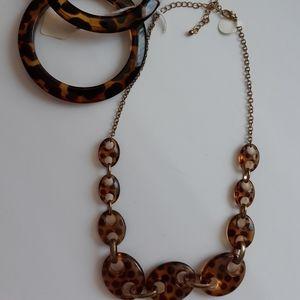 Tiger eye look necklace and 2 bracelets